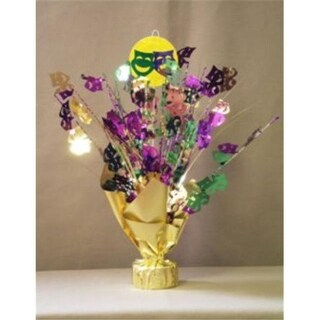 Party Deco Balloon Weight Centerpiece - Gold Comedy-Tragedy Faces -