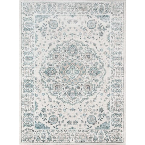 Momeni Brooklyn Heights Polyester Blend Traditional Medallion Area Rug
