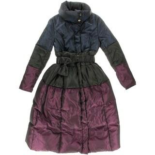 GJPORTSNEW Womens Colorblock Parka Puffer Coat - L