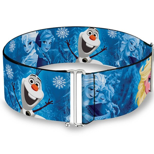 Frozen Character Poses Blues Cinch Waist Belt ONE SIZE