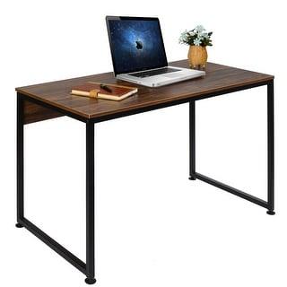 VECELO Home Office Table Morden Collection Soho Computer Table Brown - N/A