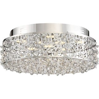 """Platinum PCST1614 Starlet LED 14"""" Wide Flush Mount Ceiling Fixture with Clear Glass"""