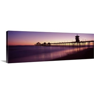 """Pier in the sea Huntington Beach Pier Huntington Beach Orange County California"" Canvas Wall Art"