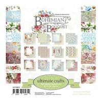 "Ultimate Crafts Double-Sided Paper Pad 6""X6"" 24/Pkg-Bohemian Boutquet 12 Designs/2 Each"