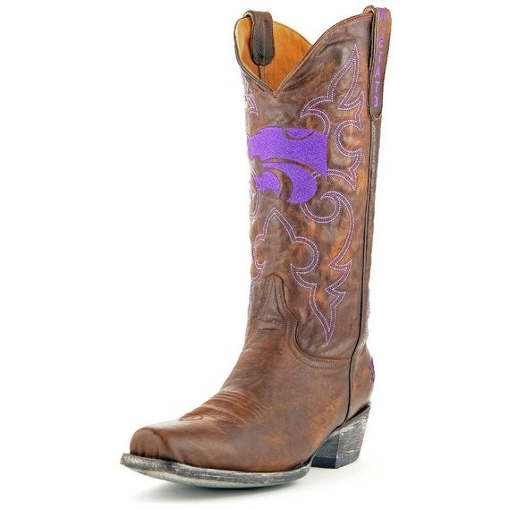 Gameday Boots Mens College Team Kansas State Wildcats Brass