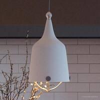 "Luxury Americana Pendant Light, 16.75""H x 8.375""W, with Nautical Style, True White Finish by Urban Ambiance"