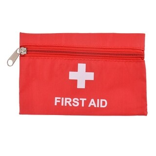 Travel Camping PVC Rectangle Emergency First Aid Rescue Safety Storage Bag Red