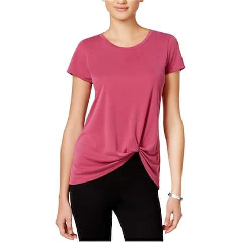 Bar Iii Womens Tie Front Basic T-Shirt
