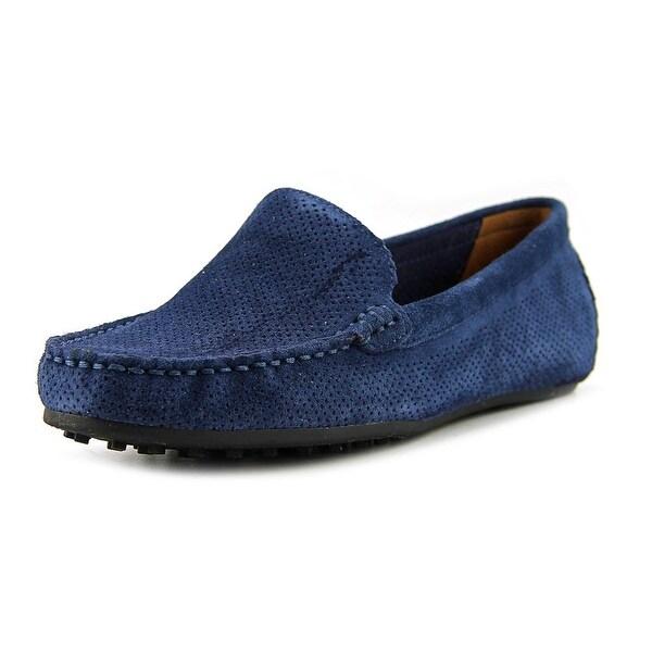 Aerosoles Over Drive Women Moc Toe Suede Blue Loafer