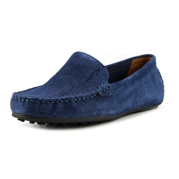 Aerosoles Over Drive Women W Moc Toe Suede Blue Loafer