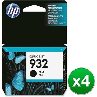 HP 932 Black Original Ink Cartridge (4-Pack) HP 932 Ink Cartridge - Black - Inkjet
