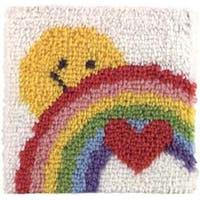 "Sunshine Rainbow - Wonderart Latch Hook Kit 12""X12"""