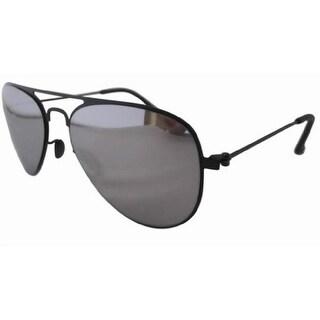 Eyekepper Stainless Steel Frame Silver Mirror Lens Aviator Kids Children Sunglasses Black