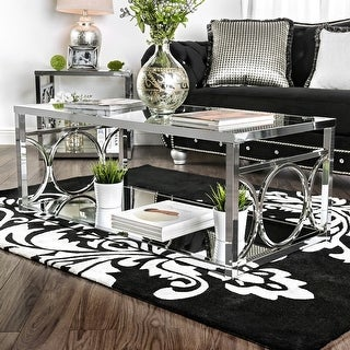 Link to Silver Orchid Pehrson Contemporary Glass Top Coffee Table Similar Items in Living Room Furniture