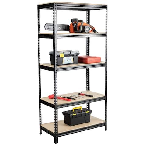 Costway 2/3/4 PCS 5-Tier Metal Shelves 73'' Garage Rack Adjustable