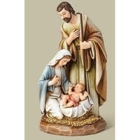 "7.5"" Joseph Studio Wood Carved Holy Family Religious Christmas Table Top Figure - WHITE"