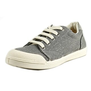 10 Is Ten Lace Youth Round Toe Canvas Gray Sneakers