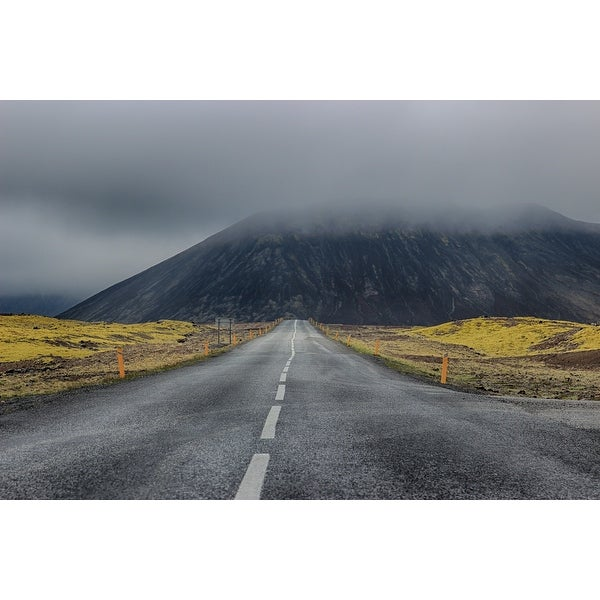 Highway And Mountain Canvas Print Wall Art
