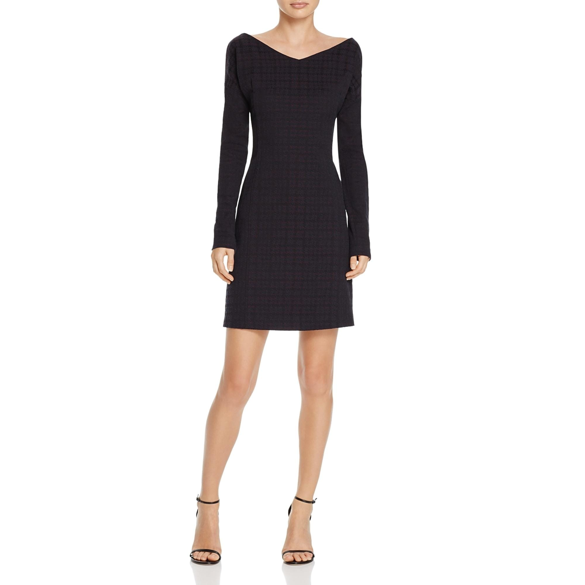 Theory Womens Mini Dress Houndstooth Print Dinner Party Overstock 23498921