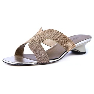 Vaneli Beyla Women Open Toe Synthetic Bronze Slides Sandal
