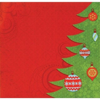 """Easy Peasy Page Layout W/3D Design 12""""X12""""-Christmas"""