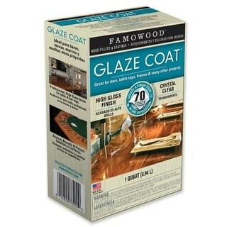 Famowood® 5050080 High-Gloss Finish Glaze Coat Epoxy Coating, Clear, 1-Quart