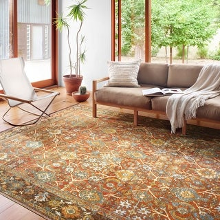 Link to Alexander Home Luciano Oriental Indoor/ Outdoor Area Rug Similar Items in Transitional Rugs