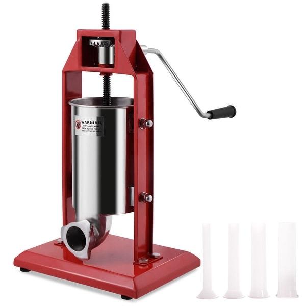 New Stainless Steel Vertical Sausage Stuffer 3L Maker Meat Filler Commercial