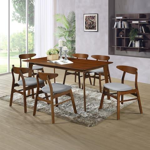 Hollencrest Walnut Mid-Century Modern Dining Table