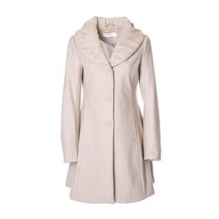 T Tahari Abigail Wool-Blend Coat