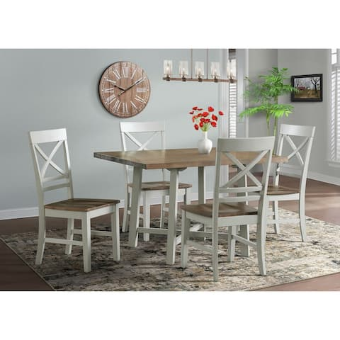 Picket House Furnishings Bedford 5PC Standard Height Dining Set-Table & Four Chairs
