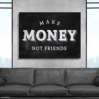 IKONICK Make Money Not Friends Canvas Art