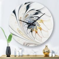 Designart White Stained Glass Floral Art Modern Mirror Contemporary Oval Or Round Wall Mirror On Sale Overstock 28022076