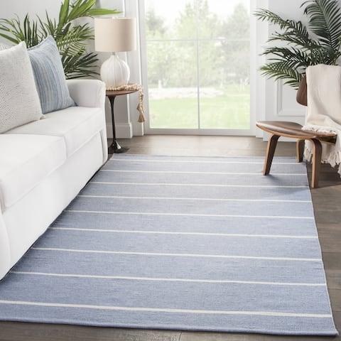 Porch & Den Langwood Stripes Indoor/ Outdoor Handmade Area Rug