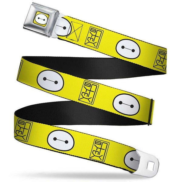 Baymax Face Full Color Yellow Black White Bymax Hanko Face Yellow Black Seatbelt Belt