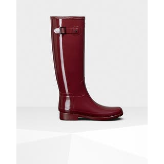 Hunter Women's Red Original Refined Gloss Rain Boots|https://ak1.ostkcdn.com/images/products/is/images/direct/0b9ba6c776b69f81f1ed4df38e7454a6b3ba4480/Hunter-Women%27s-Red-Original-Refined-Gloss-Rain-Boots.jpg?impolicy=medium