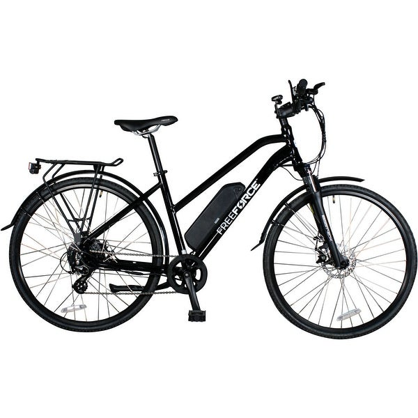 FreeForce The Indy 18-in. Electric Commuter Bike with Thumb Throttle and Pedal Assist in Gloss Black - 18-inch. Opens flyout.