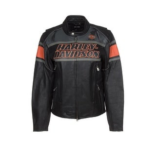 Harley-Davidson 98056-13VM Rumble Black Leather Jacket