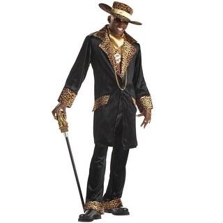 California Costumes Mac Daddy Pimp Adult Costume - Black