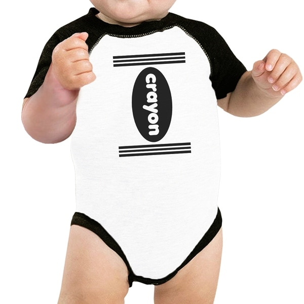 Crayon Funny Halloween Costumes For Baby Graphic Raglan Tee Cotton