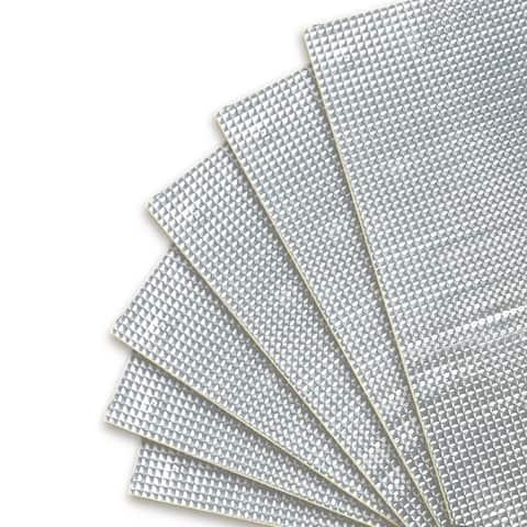 10pcs Silver Tone 80mil 40sqft Car Sound Deadener Heat Insulation Mat Pad
