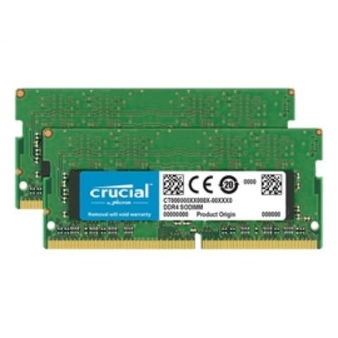 Crucial Memory CT2K16G4SFD824A 32GB DDR4-2400 CL17 Dual Ranked x8 based Unbuffered SODIMM Retail