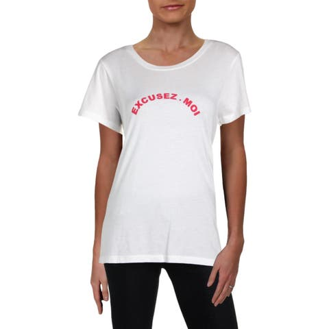 French Connection Womens T-Shirt Graphic Short Sleeve