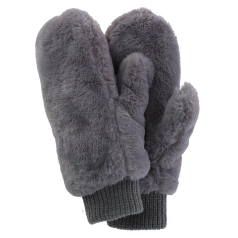 Alexa Rose Women's Fur Mitten with Sherpa Lining