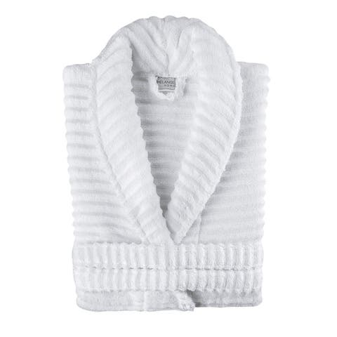 Ribbed Zero Twist Turkish Cotton Unisex Bathrobe
