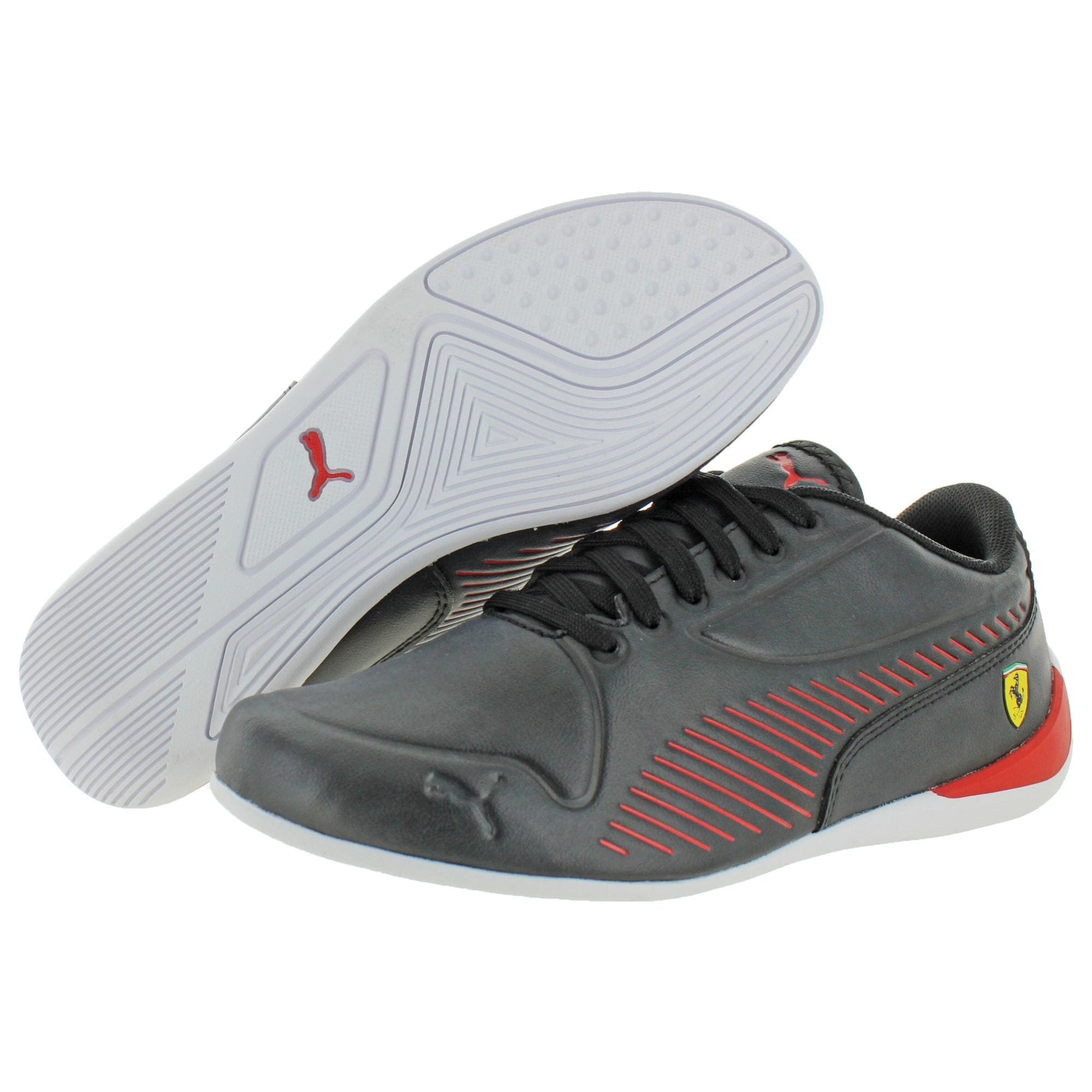 Finito cola Multa  Puma Boys SF Drift Cat 7S Ultra Athletic Shoes Faux Leather Lace Up - Puma  Black/Rosso Corsa - Overstock - 32043806