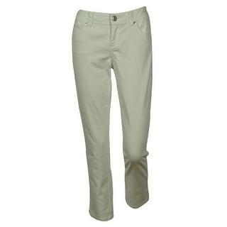 INC International Concepts Women's Regular Fit Side Design Cropped Jeans - 6