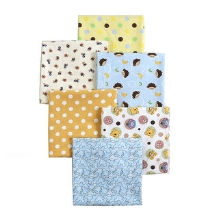 Link to Cozy Line 6-Pack Unisex Baby Cotton Flannel Receiving Blankets Similar Items in Baby Blankets