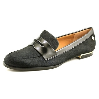 Calvin Klein Celia Women Round Toe Suede Black Loafer