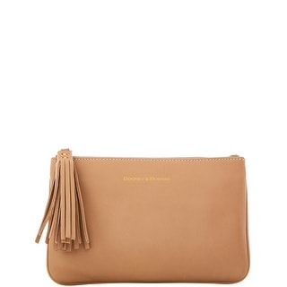Dooney & Bourke Lambskin Carrington Pouch (Introduced by Dooney & Bourke at $88 in Oct 2016) - Dark Taupe